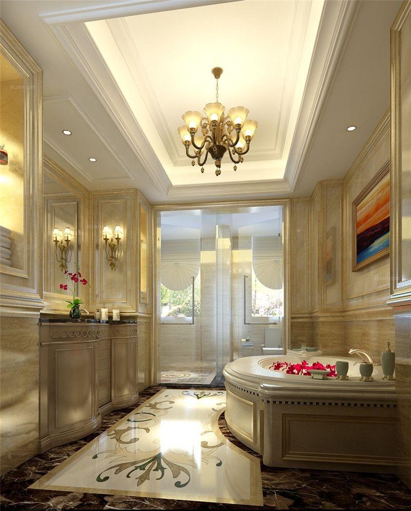 三居室古典风格卫生间