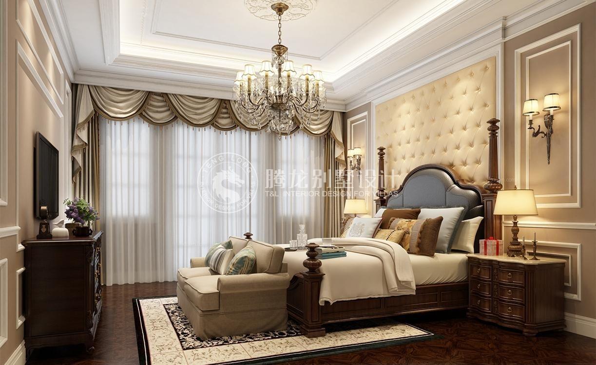 独栋别墅新古典卧室_半岛君望独栋别墅欧式新古典设计