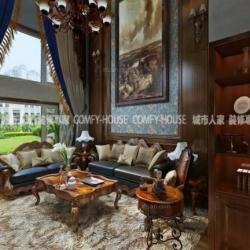 淄博家庭装修华侨城140㎡美式风格设计案例