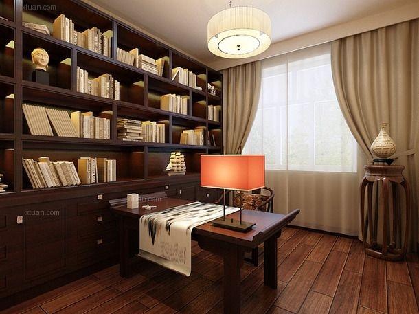 三室一厅混搭风格书房