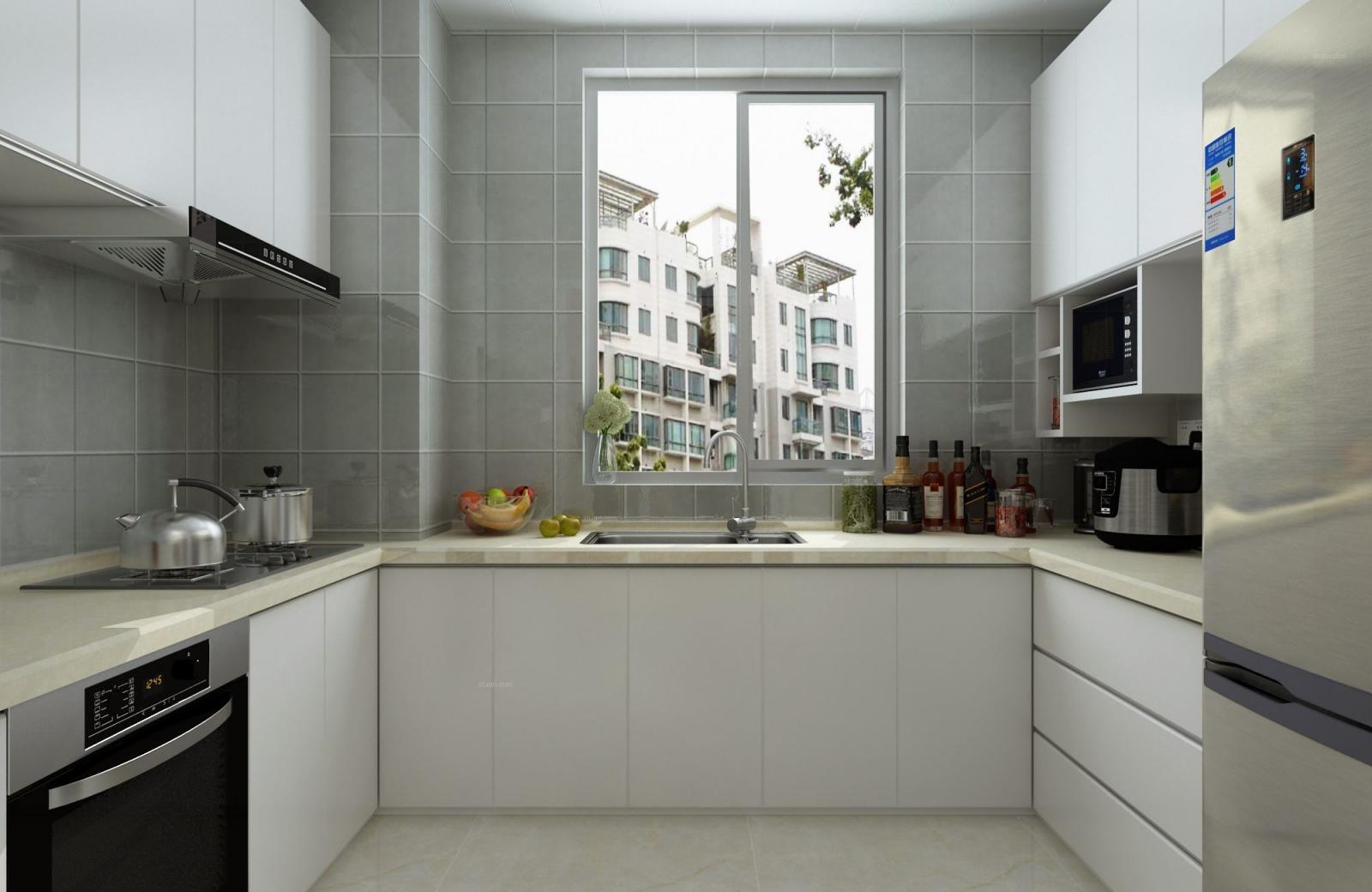 三居室现代简约厨房厨具