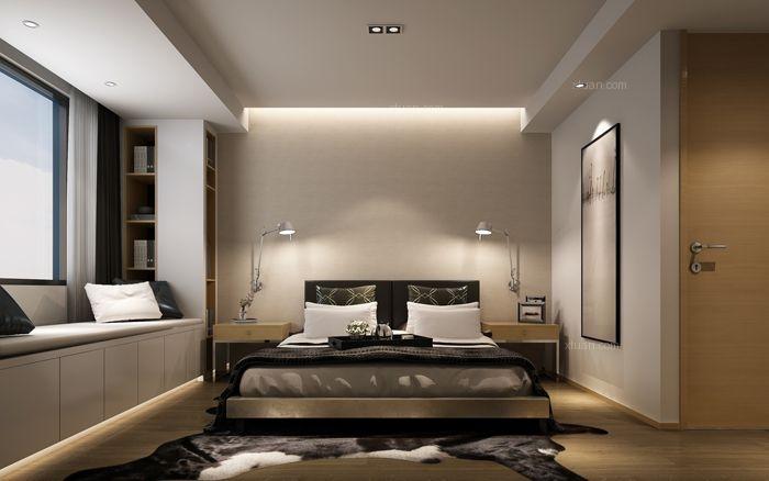 三居室现代风格卧室软装