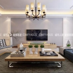 淄博城市人家装饰设计:龙泰国际160平现代简约风格案例