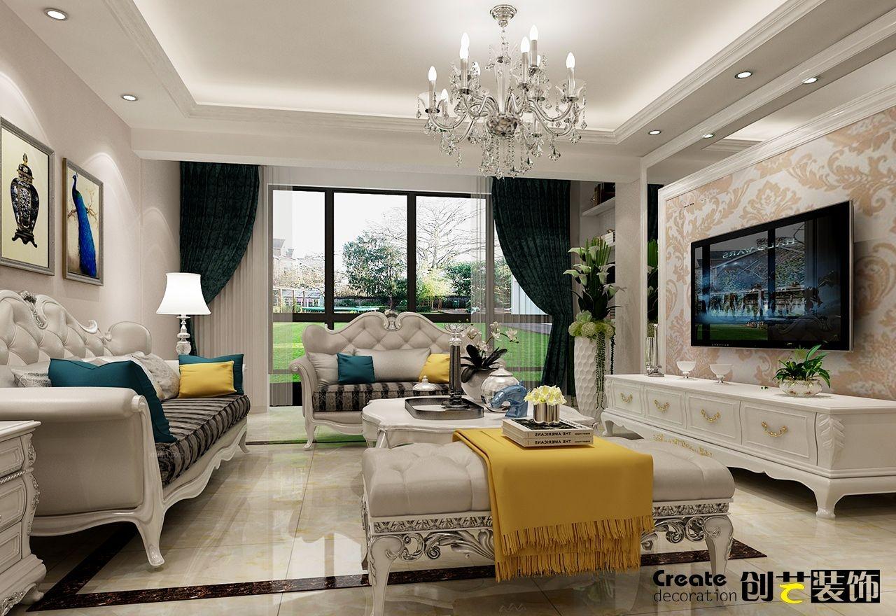 桂林100平米房子装修效果-漓江大美欧式风格装修