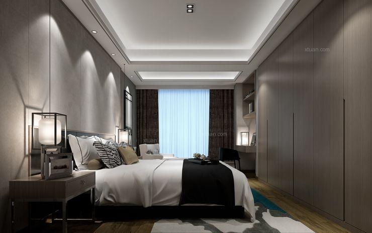大户型中式风格卧室软装
