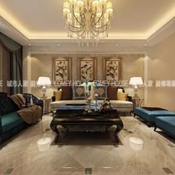 淄博城市人家装饰设计:绿城百合150㎡简欧风格装修案例