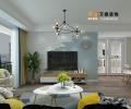 泰安御蓝山小区130平装修设计方案-万泰装饰公司