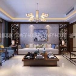 淄博最好的装修公司曦园185平新中式风格设计案例