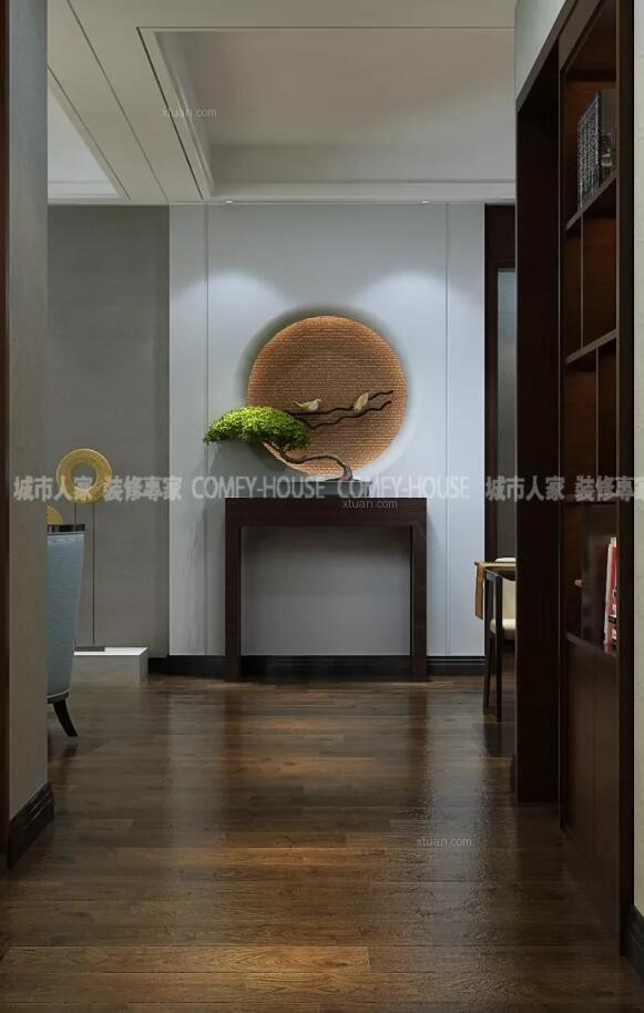 淄博城市人家装饰金域东山160平现代中式风格设计案例