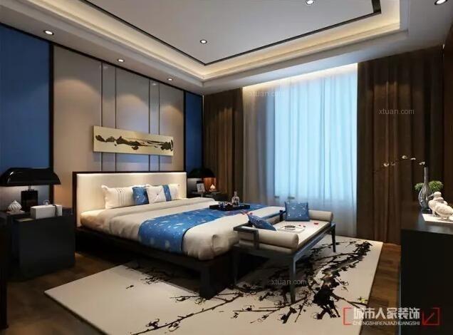 淄博家庭齐悦国际160平新中式风格设计案例装修效果图