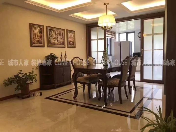 淄博最好的装修公司华侨城195平简欧风格装修案例