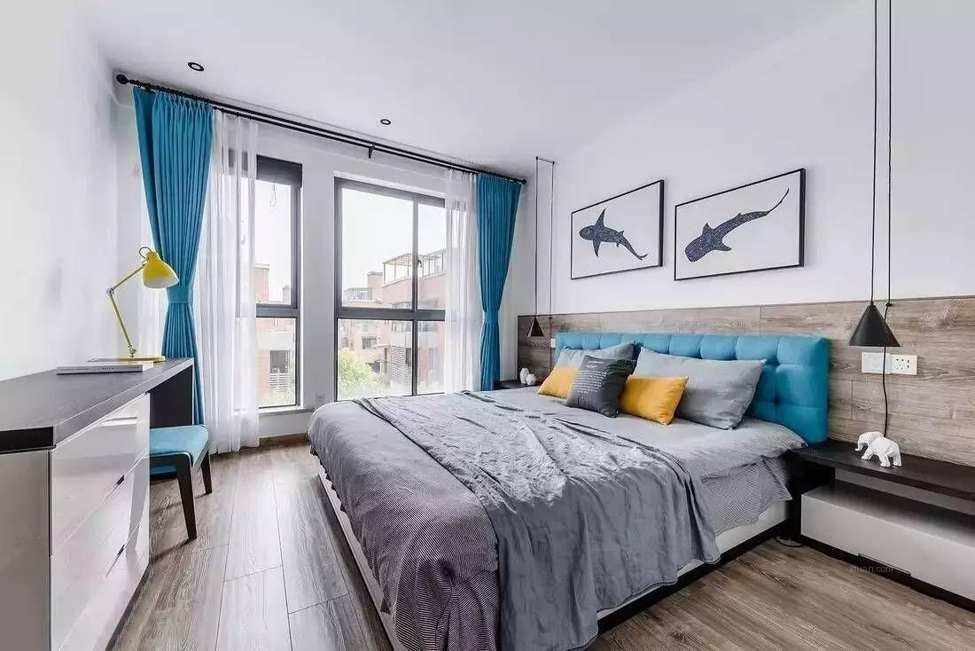 两居室北欧风格卧室_文渊居张先生装修效果图图片