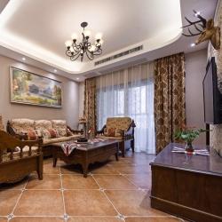 鲁公大宅尚东1956小区110平美式风格