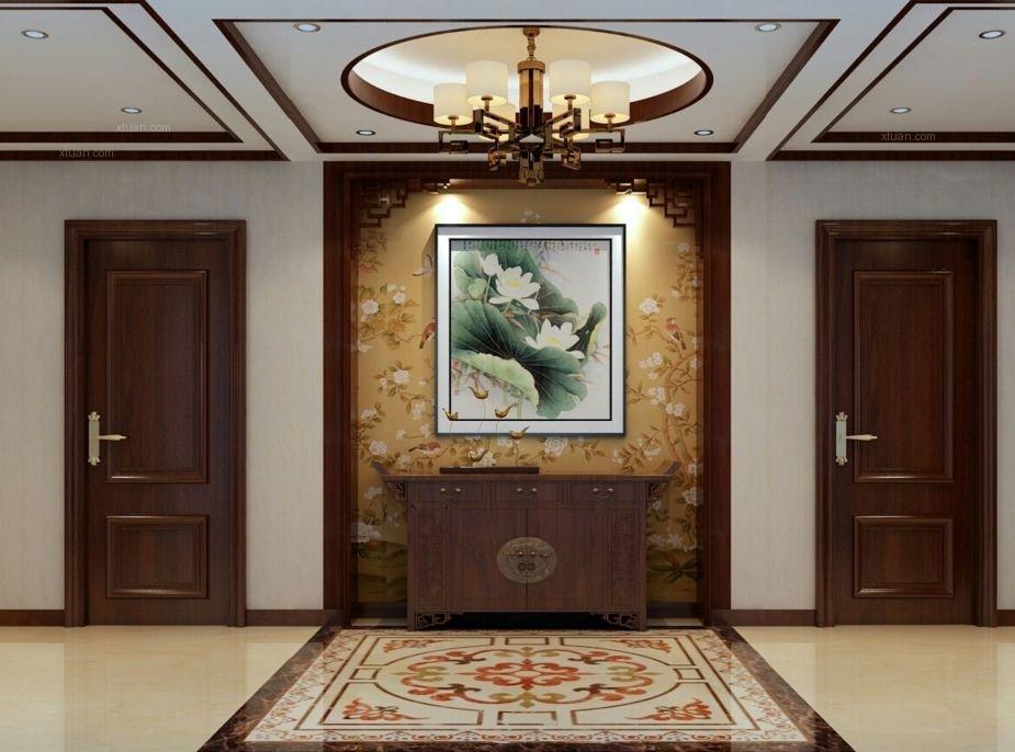 四居室中式风格玄关隔断