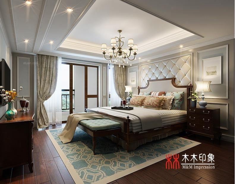 三居室欧式风格卧室