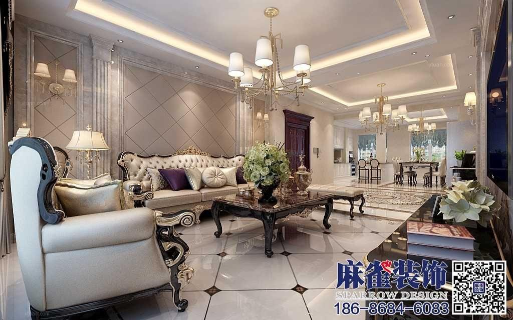 两室一厅欧式风格客厅