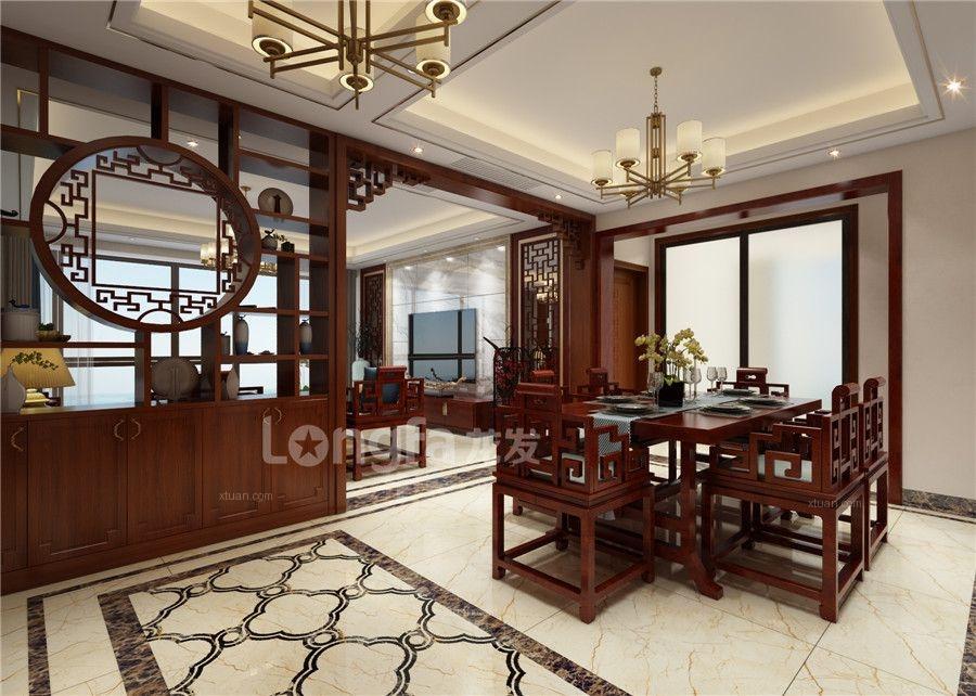 科瑞江韵160平米大户型设计效果图-中式装修