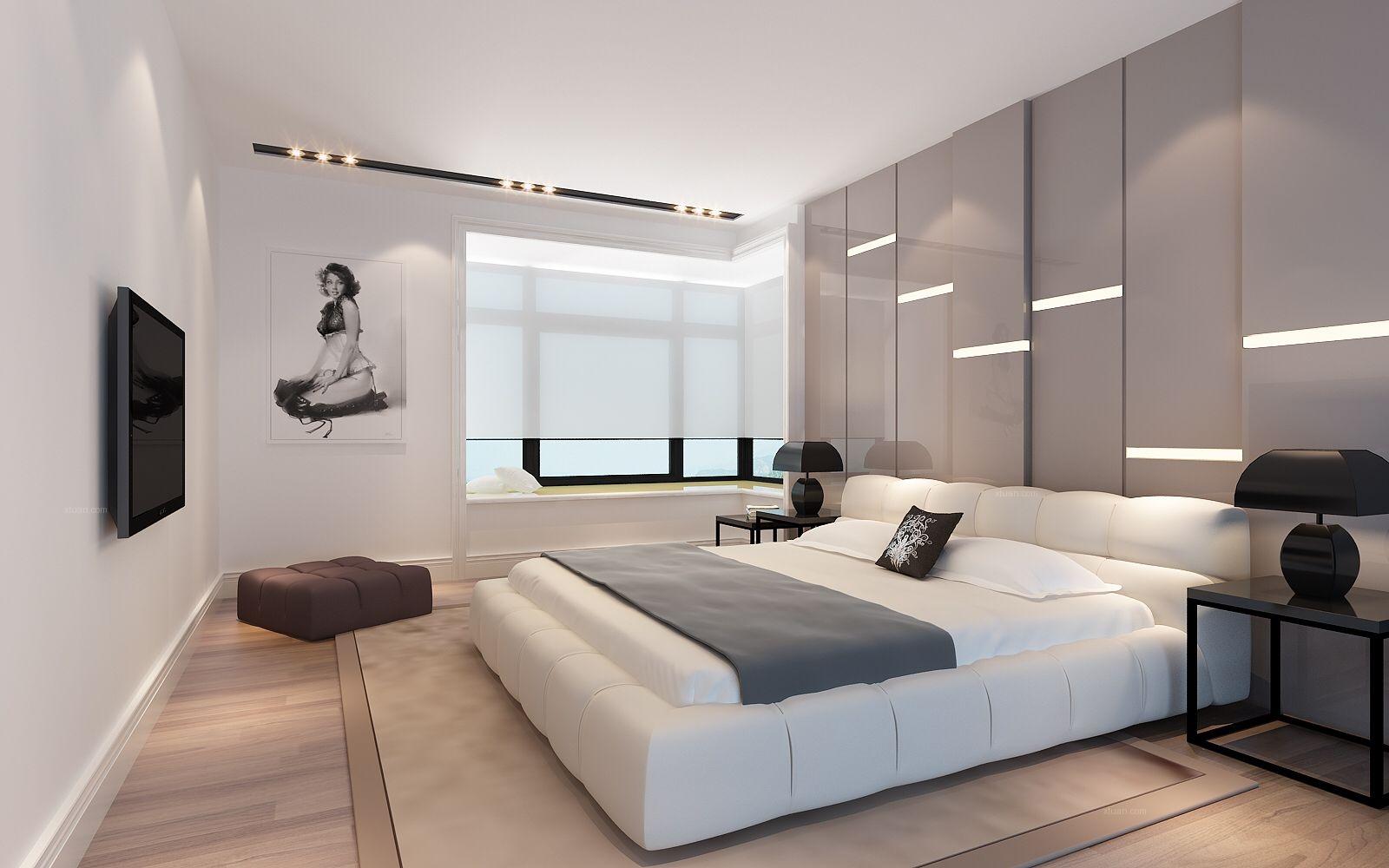 大户型现代简约主卧室