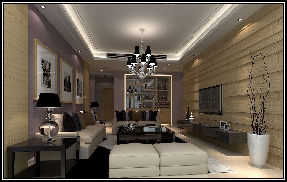 三居室日式风格客厅电视背景墙