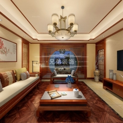 重庆龙湖源著底跃洋房装修设计案例