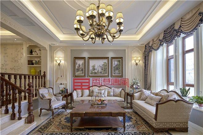 中海铂宫A5别墅区美式风格装修实景