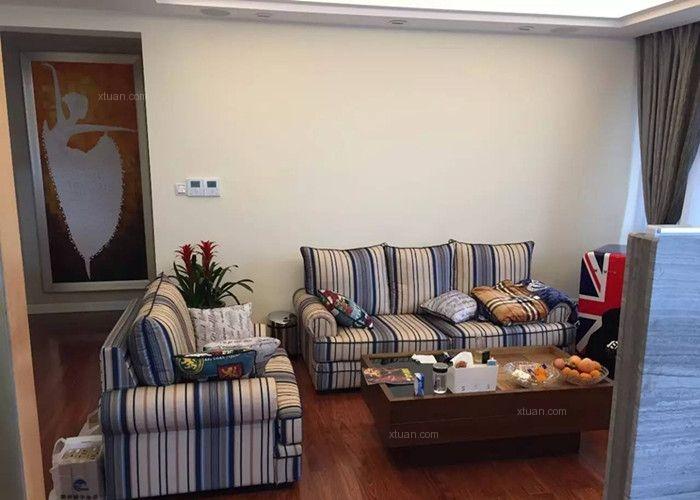 四居室美式风格客厅沙发背景墙