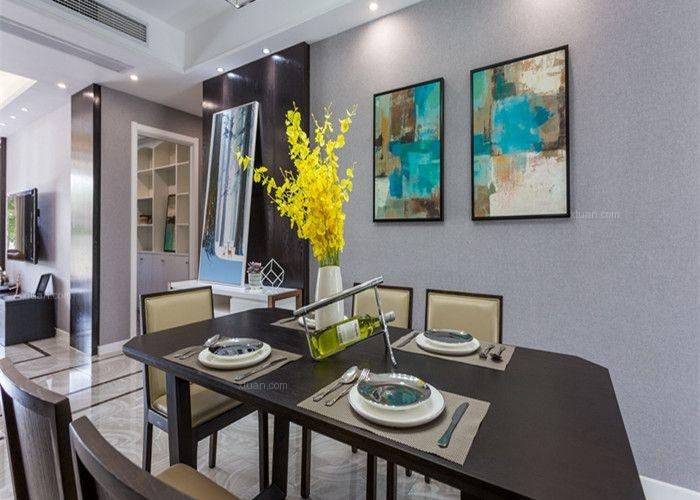 四居室现代简约餐厅照片墙