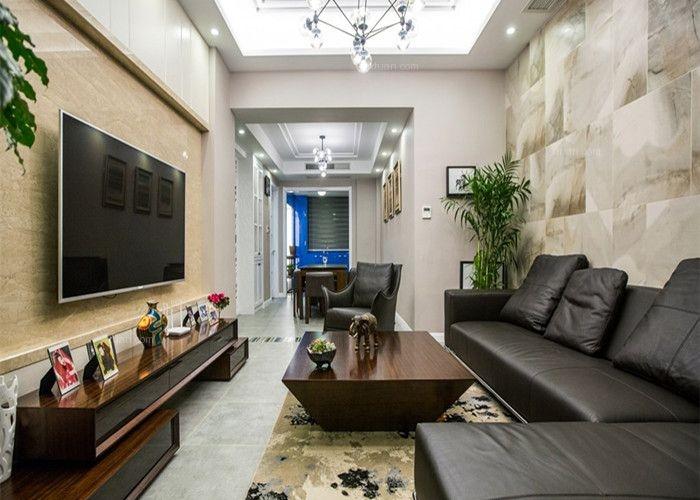 跃层现代简约客厅