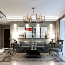 盛世御城130㎡三室两厅现代简约装修效果图设计图