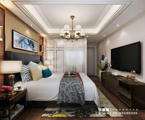 新合作广场180㎡三室两厅港式风格装修效果图
