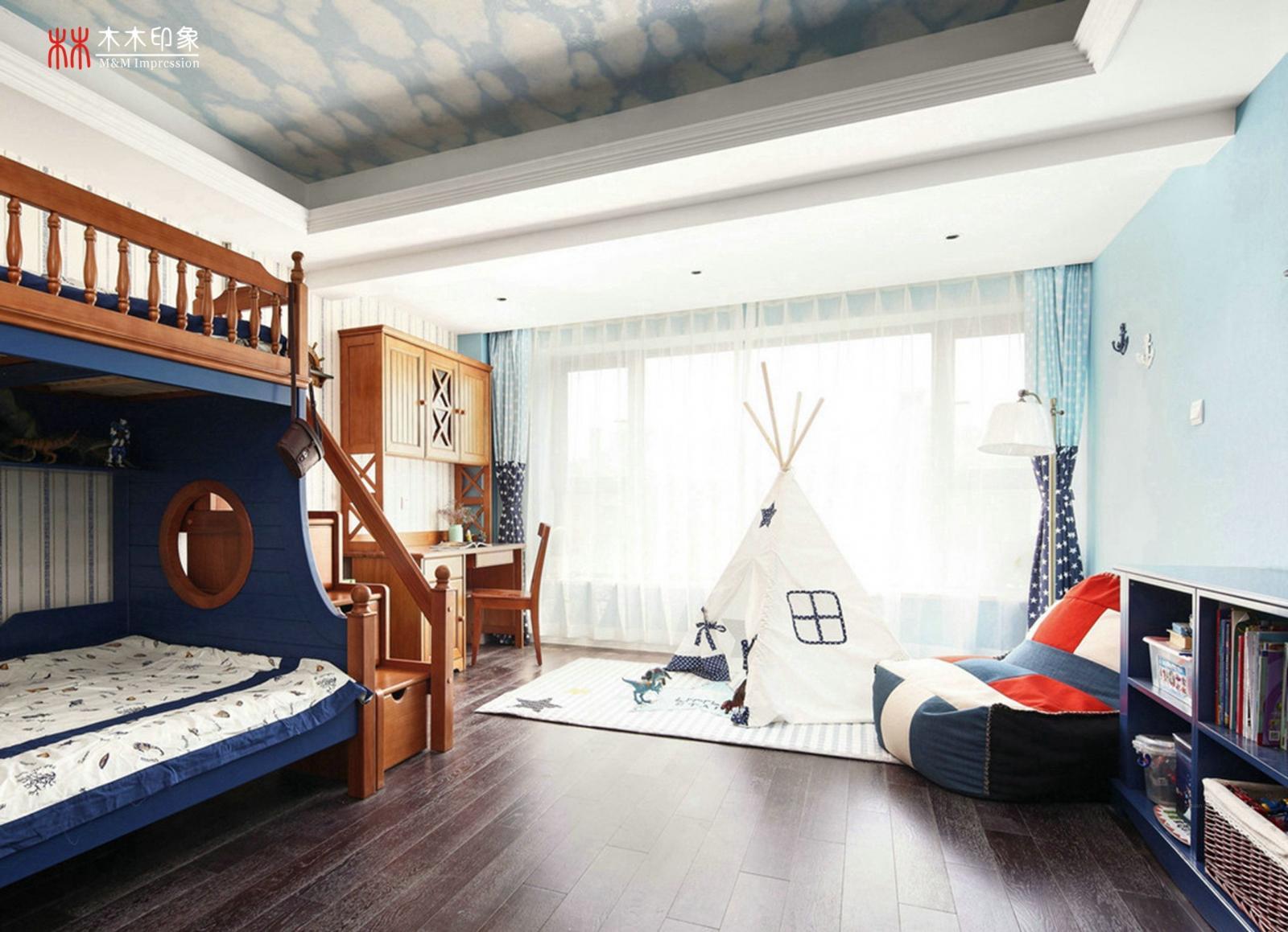两室两厅美式风格小卧室