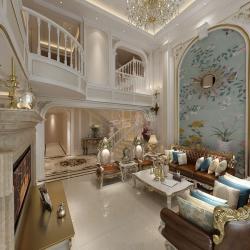 重庆橡树澜湾装修效果图丨天古装饰法式风格别墅设计
