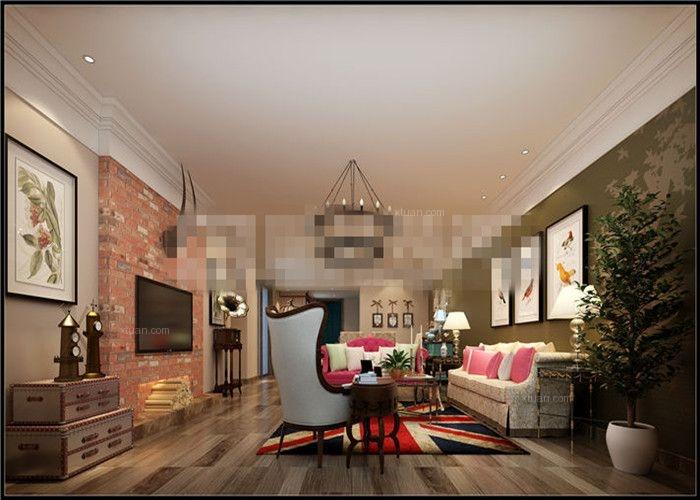 四居室美式风格客厅