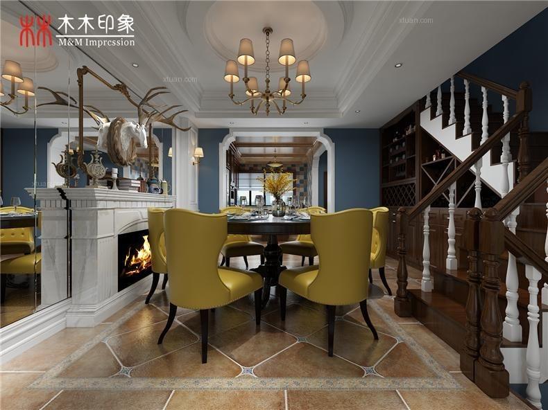 联排别墅美式风格餐厅