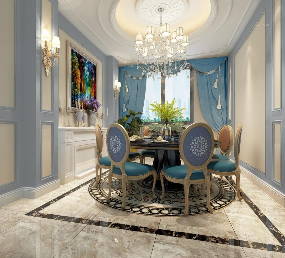 联排别墅新古典餐厅