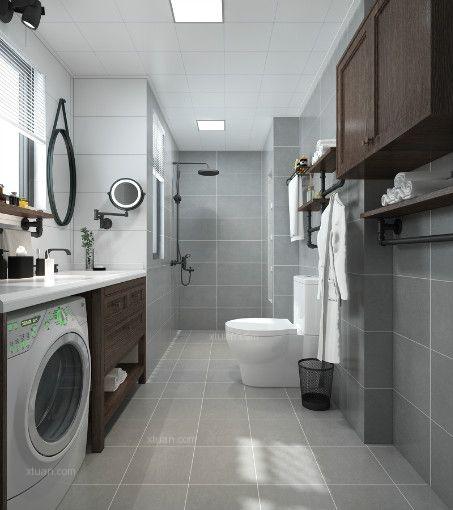 两居室北欧风格卫生间地台