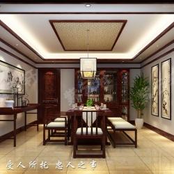 现代中式风格装修北京张仪村