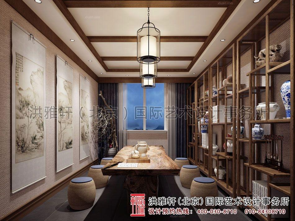 四川成都古典中式风格茶楼设计效果图案例