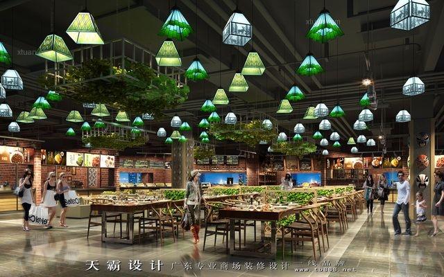 天霸设计公司为您量身定制个性化广西美食广场设计方案