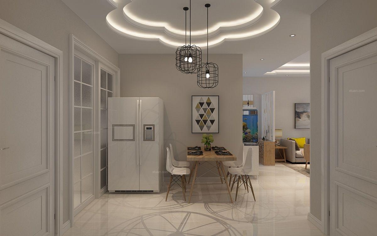 哈尔滨麻雀装饰-简单大方的单身公寓装修效果图