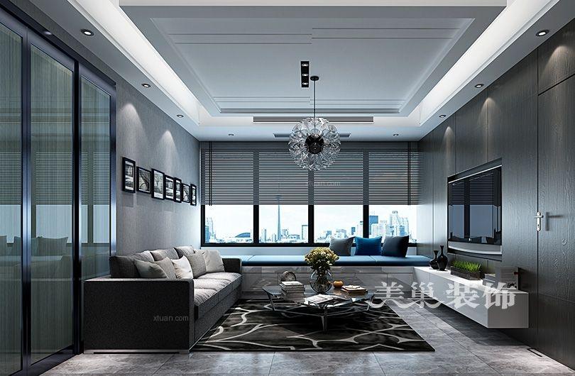 一室一厅现代风格阳台榻榻米