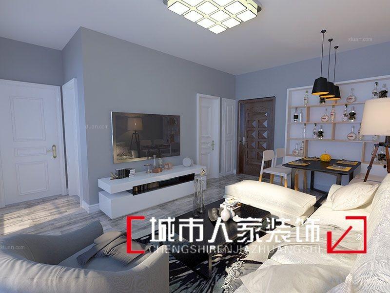【烟台城市人家装饰】紫薇台80平米新中式风格签约在线