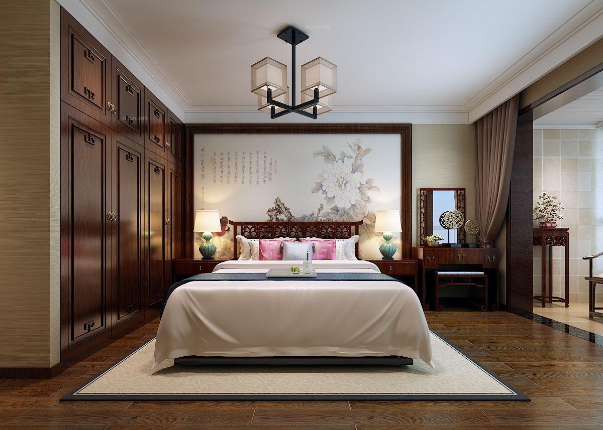 四居室中式风格卧室照片墙