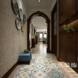 郑州金城国际广场160平复古装修,实木美式风更端庄