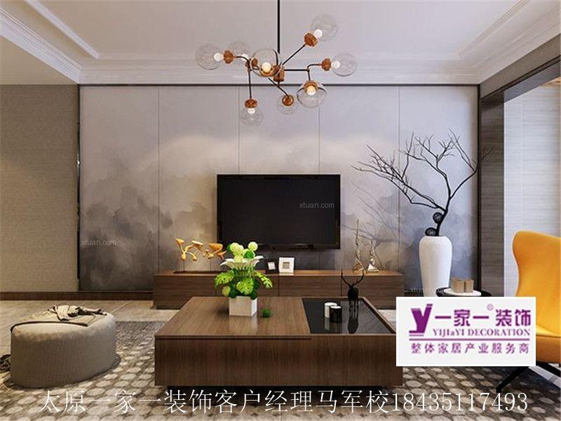 【太原一家一装饰】上林轩128平米现代简约风格装修设计效果图