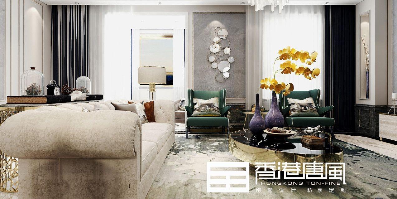 济南华润仰山260平现代风格别墅装修|济南香港唐风别墅装修
