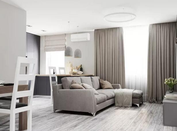 三居室时尚风格客厅沙发背景墙
