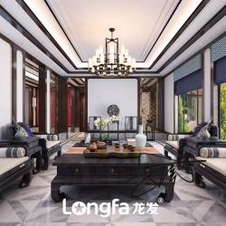 石家庄西山庭院别墅新中式风格装修设计