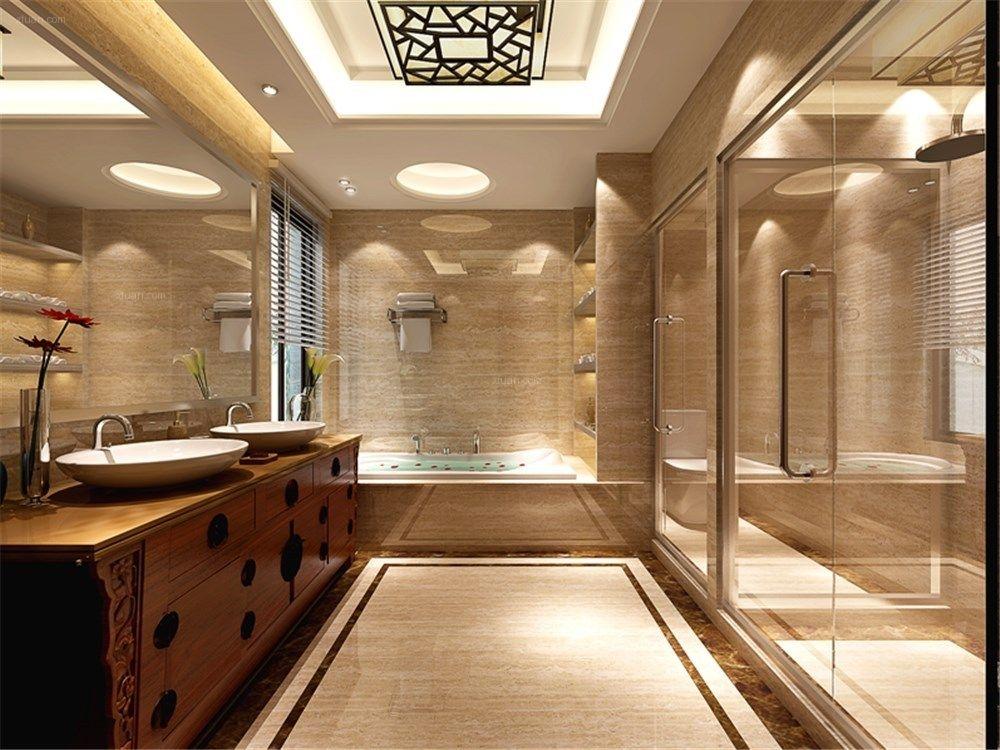 绿地海域观园460平别墅新中式设计