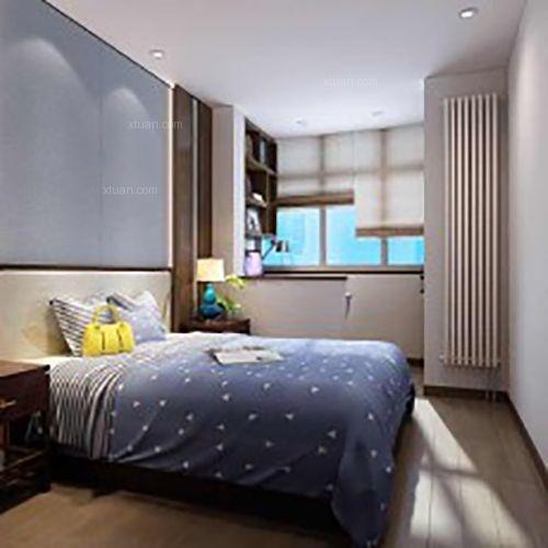 三居室新古典卧室卧室背景墙